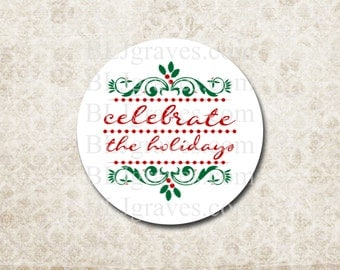 Christmas Stickers Envelope Seals Holiday Party Favor Treat Bag Stickers CS012