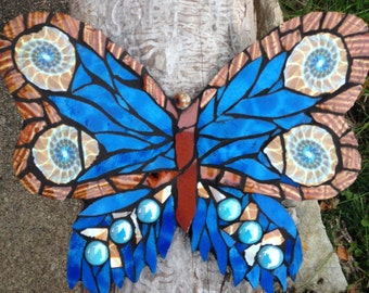 Mosaic butterfly   Large: 9x6 inches