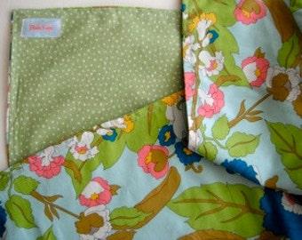 Femme Floral  - Flannel-lined Blanket