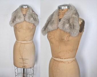Fox Collar / silver genuine fur
