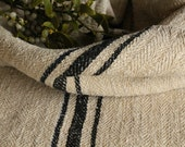C 739 antique handloomed rarest BLACK grain sack bathmat pillows cushions runners 44.09 long