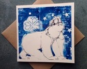 The Girl and the Bear, Greetings Card