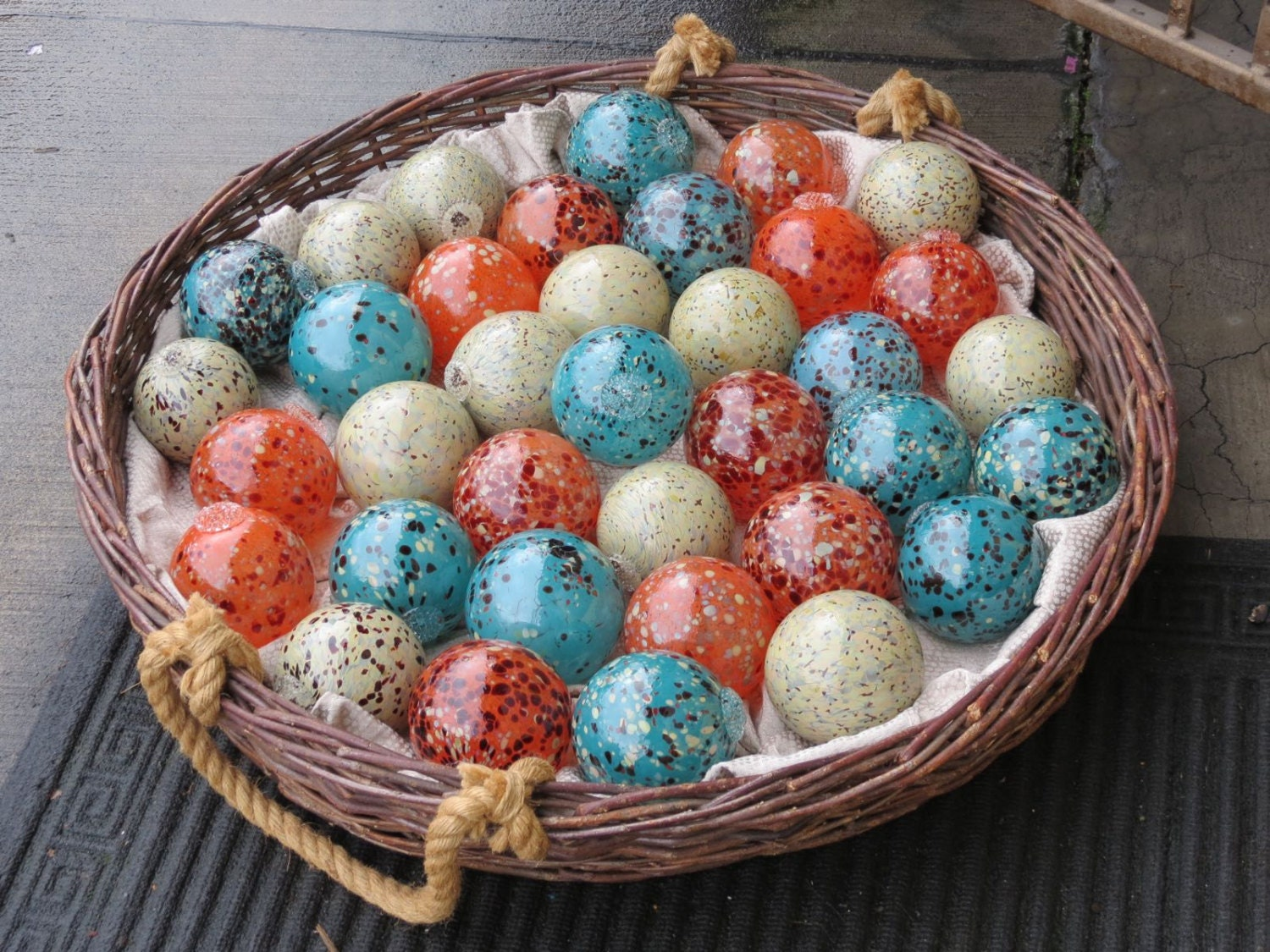Speckled floats wholesale lot of blown glass balls