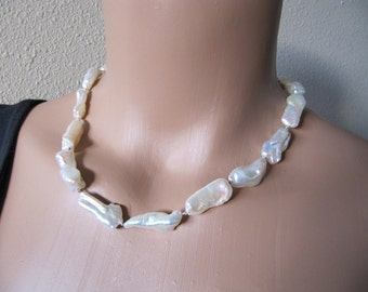 RESERVED. Stunning Baroque Pearl Necklace