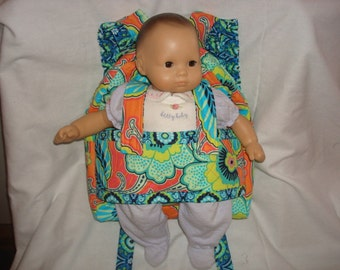 Baby  Doll Carrier in Amy Butler Lark with Amy Butler accents. Ready to ship