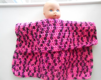 Crochet Doll Blanket Handmade Panther Pink
