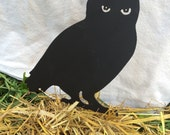 Owl pumpkin stake, owl decoration, owl Halloween decoration
