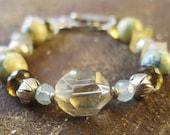 Citrine Bracelet, Quartz Bracelet, Yellow Bracelet, Chunky Bracelet, Natural Gemstone Bracelet