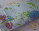 Moving Sale!  Vintage Modern Marigold Blue Purple Floral Fitted Full Sheet Cutter