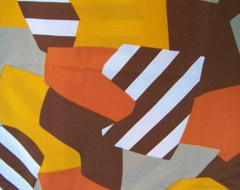 "Amazing Retro Vintage 60s 70s Abstract Modern Fabric Cotton Rayon Blend 3 yards 62"" wide!"
