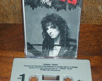 Alice Cooper Poison Trash RARE Vintage Cassette Tape
