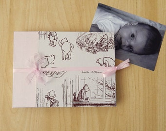 "Baby Girl Photo Album, Christening Book. 7"" x 5"" Photo Book. Baptism, Naming Day, Christening Gift"