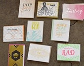 SALE - Everyday Letterpress Greeting Card Pack (Assorted) - 20 Cards And Envelopes