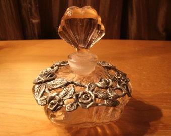 VIntage Perfume Decanter Pink Glass