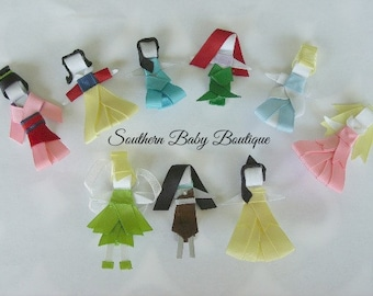 New Item---Boutique Hand Sculpted Ribbon 3-D Hair Clip Clippie---You Pick Princess