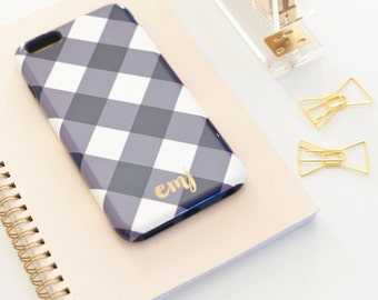 Monogrammed iPhone 6s / iPhone 6 / iPhone 5 Case - BUFFALO CHECK