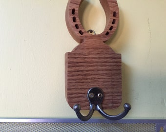 Wooden hand scrolled coat rack