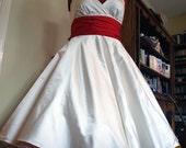 Sample Sale - June - 1950s Tea Length Wedding Dress, silk satin