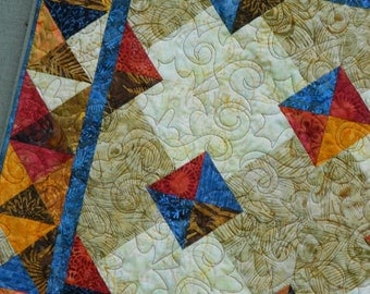Quilt Pattern - Autumn Gems - Tonga Treat, Layer Cake  & Fat Quarter Friendly EASY All Sizes