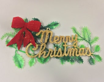 1970s Plastic MERRY CHRISTMAS Door and Wall Decoration UNOPENED