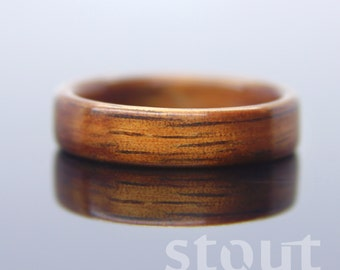 Shimmer Koa Wooden Ring - Handcrafted Bentwood Wedding Ring - Custom Made Wood Band