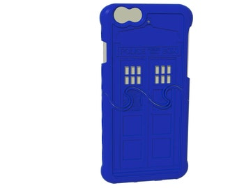 Police Box Puzzle Case - Made-To-Order Regular iPhone 6s / 6 (4-8 weeks) - Tardis Blue
