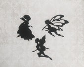 Fairy die cut mixed set of 3 embellishments in any color
