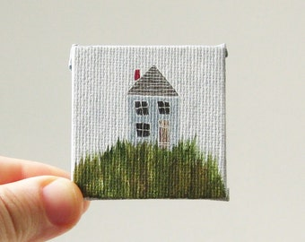 coming home  / MINIATURE painting on canvas panel