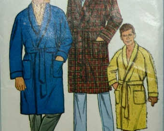 Simplicity 6756 Men's Vintage Robe Sewing Pattern New / Uncut Size Medium 38-40