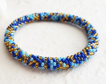 ADIA Bracelets Glass Bead - Glass Beads, Hand crafted Bracelet, Adjustable Size, Handmade USA Christina Guenther