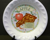 Vintage Pie Plate Recipe Apple Pie Himark Golden Pie Collection CrabbyCats Crabby Cats
