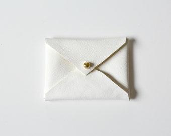 LEA Leather envelope wallet Business Card Case, Leather Card Case Business Card Holder gifts under 10, card holder, gift for boss