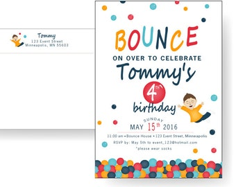 Bounce House Invitation // Ball PIt Party Invitation // Child's Birthday