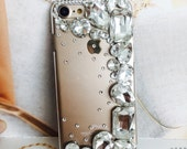 apple iphone 5, 6G 6 plus, 7 case, crystalized Art Deco crystal iphone cover.