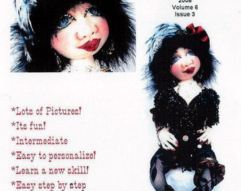 "Digital Download Caroline, The Showgirl Diva 20"" Cloth Doll Pattern CD Caroline Erbsland Signed"