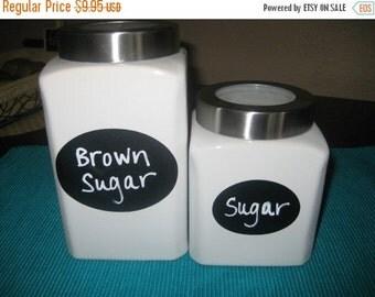 Get Organized SALE- 24 Oval Chalkboard Labels, Canister Labels, Kitchen Labels, Get Organized