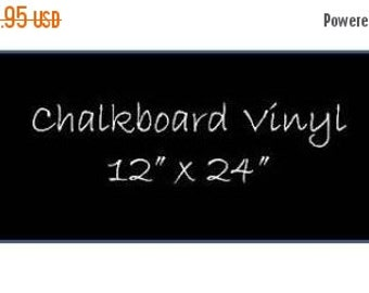 Get Organized SALE- 1 Sheet of Chalkboard Vinyl 12 x 24 inches DIY Chalkboard Labels, Chalkboard Vinyl Decals, DIY Weddding Chalkboards