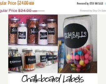 Get Organized SALE- Chalkboard Labels  Organize and Personalize with Chalk Labels   - 36 Labels - Rectangle, Fancy, and Oval FREE SHIPPI