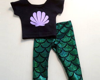American Girl Doll Clothing Mermaid Outfit Shirt and Pants Set