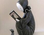 Edgar Allan Poe Poppet Reader Sculpture or Bookend