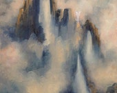 Angel Falls, Angel Art Landscape, Spiritual Art, Original Oil Painting by Marina Petro