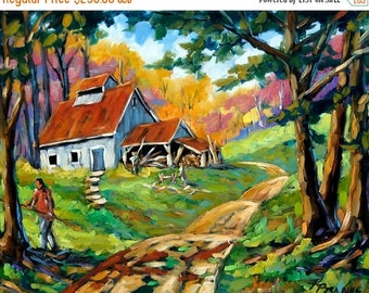 On Sale Afternoon chores Original Painting by Prankearts