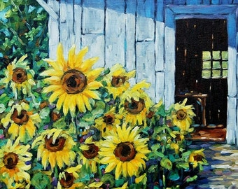 On Sale Sunflowers and Sunshine Original Painting by Prankearts