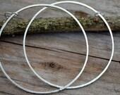 Large giant hoop earrings sterling silver hoops bohemian hoops vintage Mexican hoop earrings textured dangle hoops, unique unusual gift