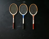 Vintage Tennis Racket Sets of Three Choose a Set of Three Rackets From Nowvintage on Etsy
