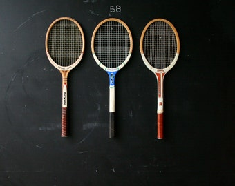 Tennis Racket Sets of Three Choose a Set of Three Rackets From Nowvintage on Etsy