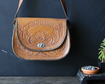 Vintage Tooled Leather Purse Bohemian Festival Cross Body Bag Boho Chic Saddle Bag Style Vintage From Nowvintage