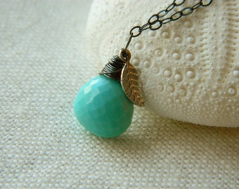 The Sleeping Beauty Necklace-- oxidized sterling silver AAA Sleeping Beauty Turquoise pendant necklace