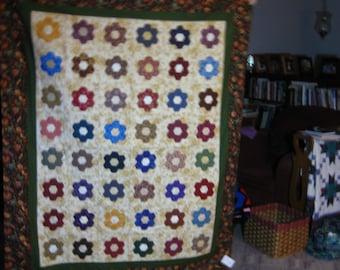 Applique Grandmother's Flower Gardeb Quilt