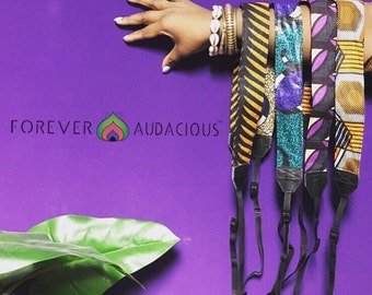 PLEASE READ || Shoot Your Shot African Wax Print Camera Straps || To BUY - go to www.foreveraudacious.com